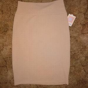 LuLaRoe Skirts - NWT Lularoe Cassie cream colored textured skirt